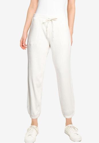 GAP white Cozy Rib Jogger Pants CE4A5AACF747D9GS_1
