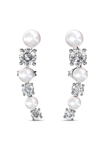 Her Jewellery silver Finley Earrings (White) -  Made with premium grade crystals from Austria HE210AC0H989SG_1
