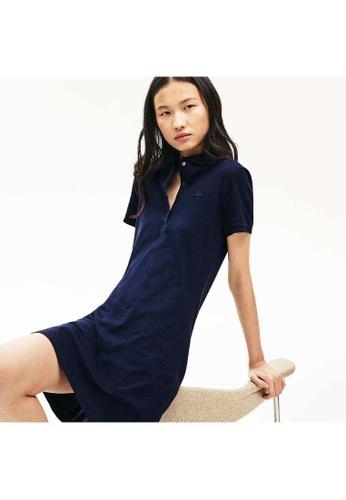 Lacoste blue Lacoste Women's Stretch Cotton Piqué Polo Dress E5D50AABA00F2CGS_1
