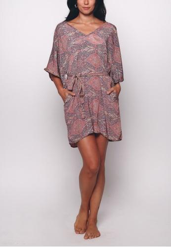 Aanya pink Pink Lara Kaftan Midi Dress 51F61AA5C04500GS_1