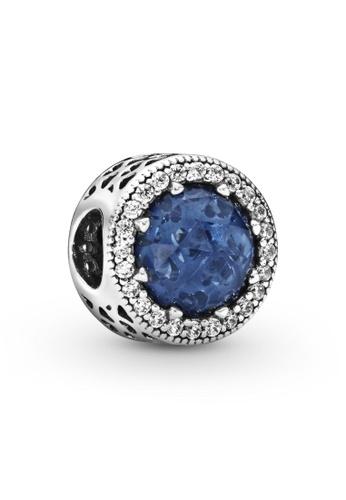 PANDORA silver Pandora Sparkling Dark Blue Charm 5BFAFACE8B3492GS_1
