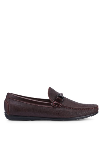 Carlton London red Slip On Loafers F2940SHD145FF3GS_1