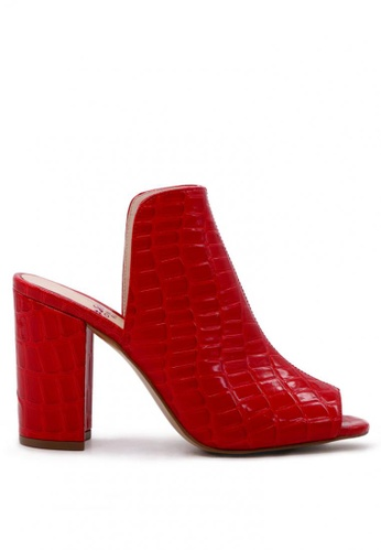 London Rag red Slay by London Rag  Peep-toe Mule in Croc Print E1458SH17A5901GS_1