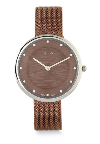 ZECA brown Zeca Watches Couple Ladies Fashion - 1001L(4) Silver Coffee 0922EACA8C8D97GS_1