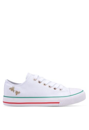 Rubi white Jodi Low Rise Sneakers F87E6SH082786DGS_1
