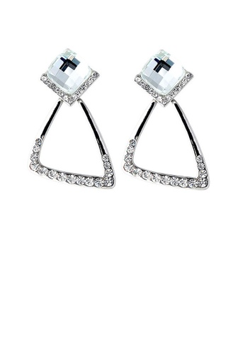 Glamorousky silver Elegant Earrings with Silver Crystal Glass and Silver Austrian Element Crystals 268E7ACDB0B88DGS_1