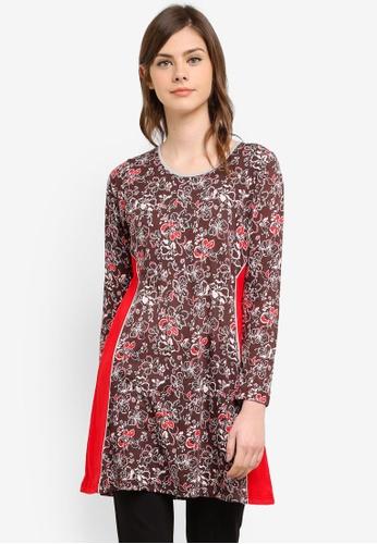 Wafiyya by Dollscarf red Blouse Tulip WA375AA0S75YMY_1