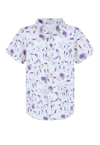 Viva Vida Kids white and purple Chris Shirt Lavender 7F07BKA6A26F6AGS_1
