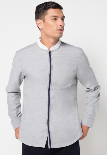 DocDenim grey Men Shirt Jaeger 73F4DAA4FB1F62GS_1