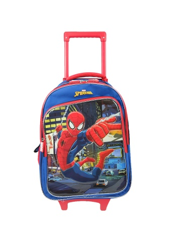 MARVEL red and blue Marvel Kawaii VKS1961R 16 inch Spiderman Trolley School Bag 6765DKC9252FABGS_1