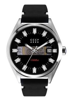 51fff79e0 CCCP black CCCP Men s Black Genuine Leather Watch - CP-7030-01  4CCDEAC00D8F43GS 1