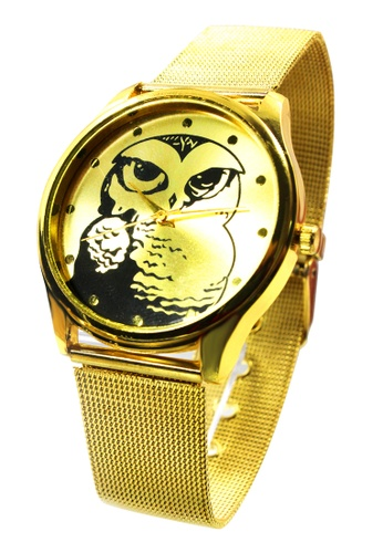 World of Watches gold Maine's Owl Stainless Strap Watch WO566AC19MRCPH_1