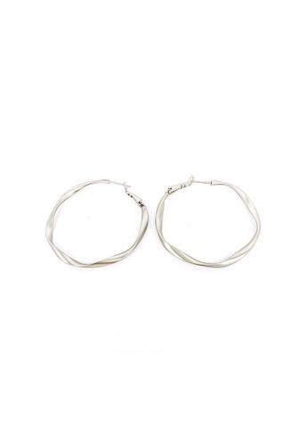 CINDERTOELLA silver Scarlett Silver Swirl Hoop Earrings E6AF1AC8B5587BGS_1