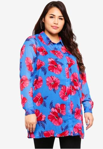 Junarose blue Plus Size Lasia Shirt 46B60AA49D676EGS_1