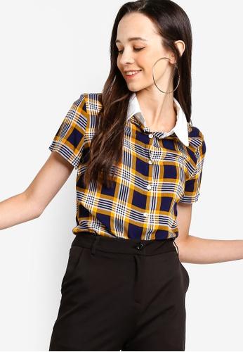 77e549995f29 Buy Something Borrowed Printed Collared Shirt Online on ZALORA Singapore