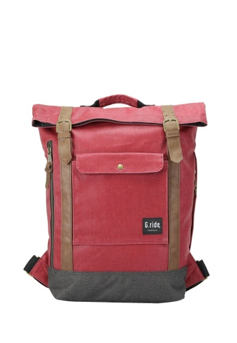 G.ride black and red Balthazar Backpack GR478AC0GKT0SG_1