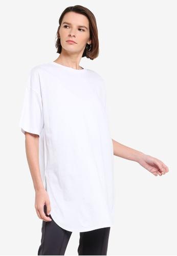 niko and ... white Longline T-Shirt 678F9AAD23AE67GS_1