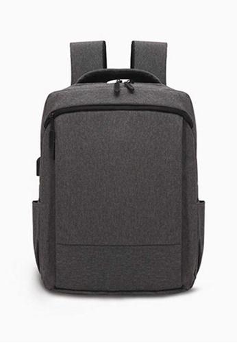 Lara grey Men's Zipper Backpack - Grey F7B83ACEE8E8CAGS_1