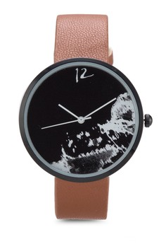 The Wave Graphic Print Watch