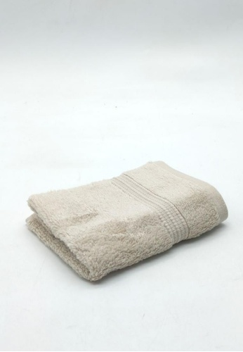 CANOPY LUXE beige Hydrocotton Face Towel B17EEHLED34267GS_1