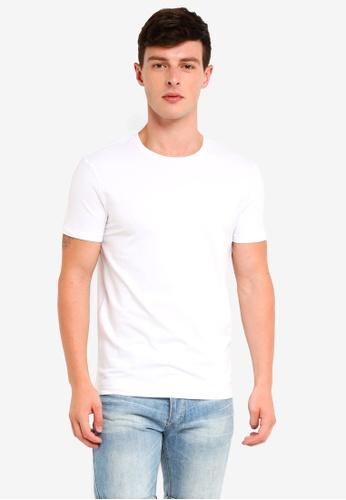 57cf84c25f56f8 Calvin Klein white Monogram Hem Logo Tee - Calvin Klein Jeans  554ADAA2AA1749GS_1
