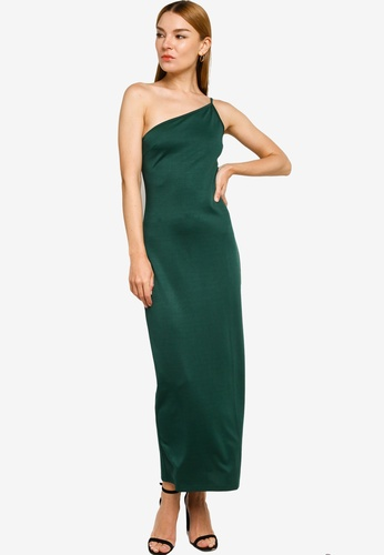 ZALORA OCCASION green Toga Maxi Dress With Slit 839C4AAAD9BCC4GS_1