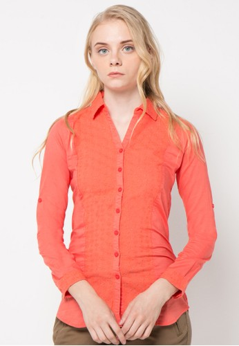TRISET orange Long Sleeve Blouse 502 TR969AA01FXYID_1