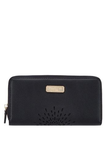 Unisa black Unique Perforated Facile Zip-Up Wallet UN821AC71EJSMY_1