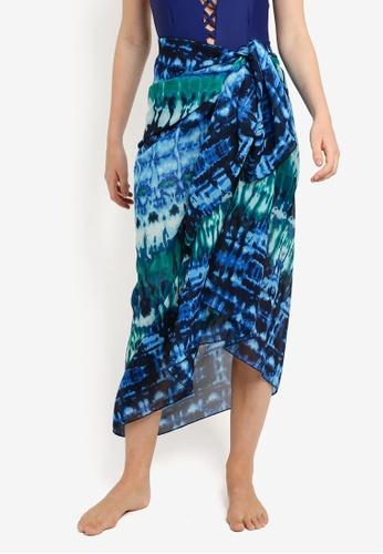 Malibu Beachwear blue and multi Polu Sun Wrap MA709US21JAWMY_1