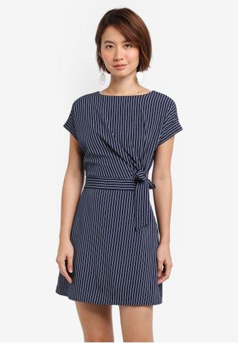 ZALORA navy Belted Dress 5E1B0AA31ABAD1GS_1