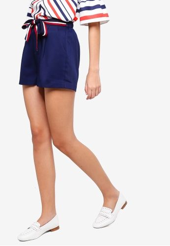 ZALORA blue and navy Tailored Shorts 3FD58AAF59EEA6GS_1