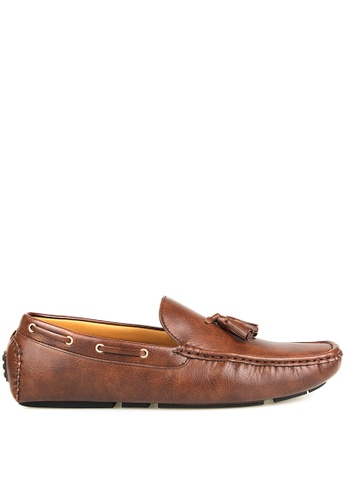 Tomaz brown Tomaz C395 Leather Tassel Moccasins (Brown) E60DBSH6F23D95GS_1