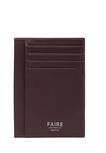 Faire Leather Co. brown Specter VT Card Wallet (Dark Brown) - Slim Leather Wallet 15D1CAC64CD105GS_1