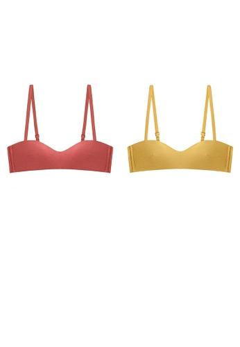 K.Excellence yellow Two Premium Comfort Orange&yellow Lingerie (2 Bras) 044C1US9E7DA00GS_1