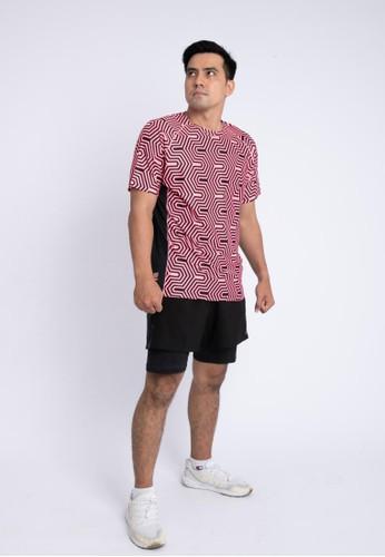 Trijee black and pink Trijee Men Short Sleeve Tee Halu Series 1 Pink 9D6D8AA0D1B2DEGS_1