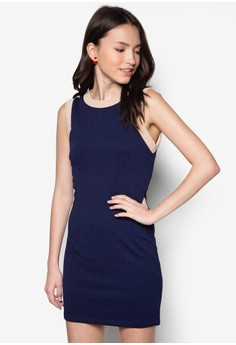 Binded Cut In Fitted Dress