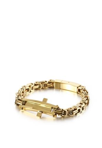 HAPPY FRIDAYS Stainless Steel Cross Bracelet KL122389 484CFACD5F1E81GS_1