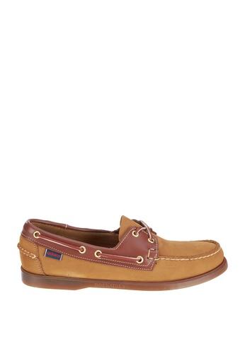 Sebago brown Mens Spinnaker Boat Shoes SE328SH13KFEPH_1