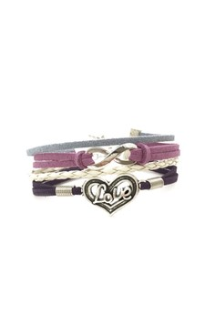 Love and Infinity Cord Bracelet