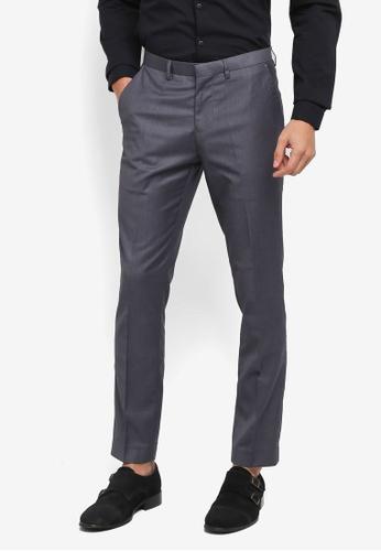 Electro Denim Lab grey Slim Formal Pants 8E5EFAA5B32499GS_1