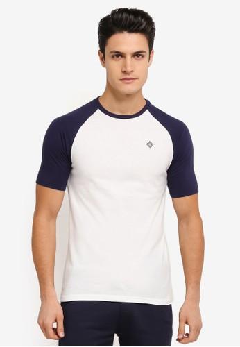 JAXON white and multi Short Sleeves Raglan Logo Tee BB9E7AADD0ED2CGS_1