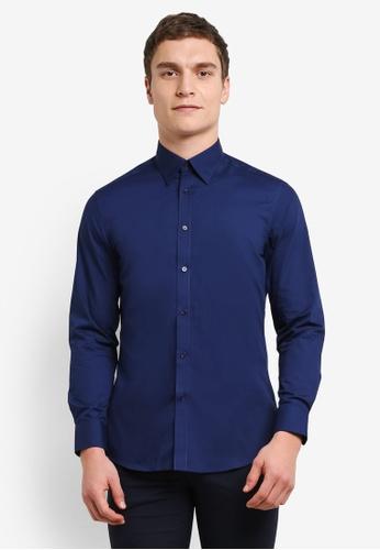 G2000 blue Poplin Shirt G2754AA0SHB6MY_1
