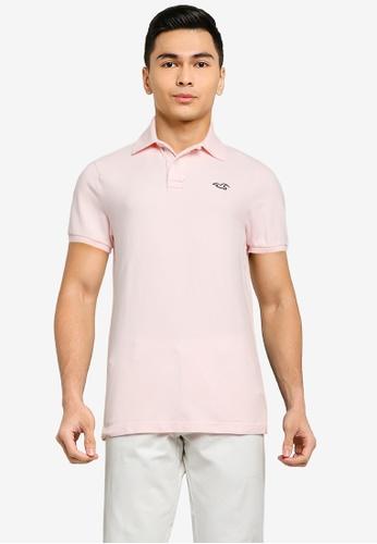 Hollister pink Core Polo Shirt 857EDAA3B6F5C7GS_1