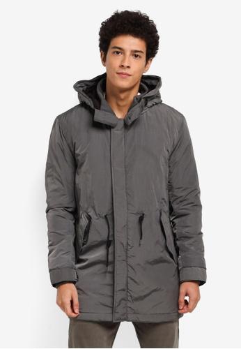 ESPRIT grey Outdoor Woven Long Jacket 0965BAA8326D21GS_1