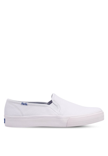 5ce51538e Buy Keds Double Decker Leather Slip Ons Online on ZALORA Singapore