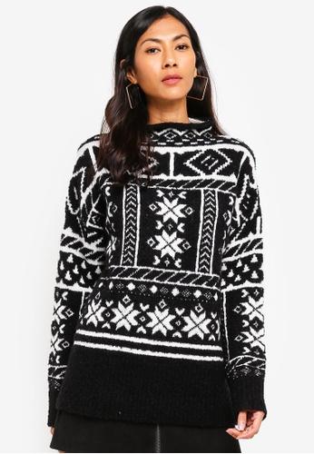 ESPRIT black Long Sleeve Sweater 4AF35AA19F5B2DGS_1