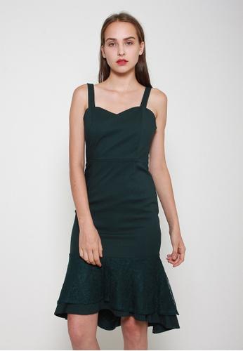 Leline Style green Camila Ruffles Dress AA515AAC9F0955GS_1