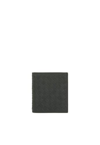BOTTEGA VENETA grey Intrecciato Folio Wallet B2082AC2F1DDD8GS_1