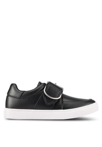 ZALORA black Front Strap Buckle Sneakers BDFADSHADE9D8FGS_1