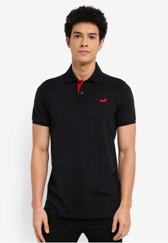 Hollister black Pop Colour Polo Shirt 7A7BBAA3D04C8BGS_1